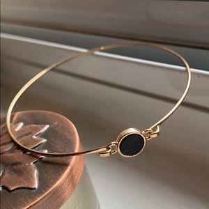 Dainty gold bangle bracelet